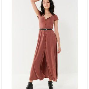 UO Buttoned Knit Maxi Dress
